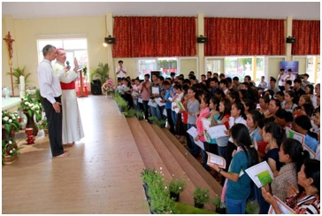 Msgr. Olivier blessed to all the participants.