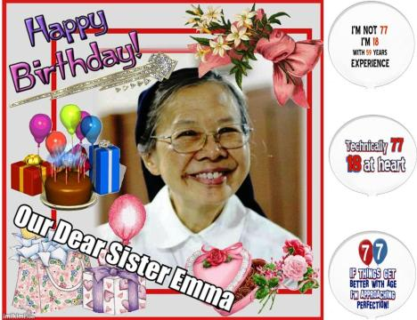 Happy birthday our beloved Sister Emma