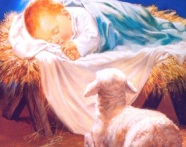 Baby-Jesus-Picture-In-A-Manger-With-Little-Lamb