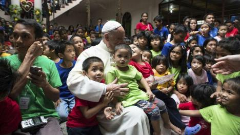 Pope Francis With the Orphans