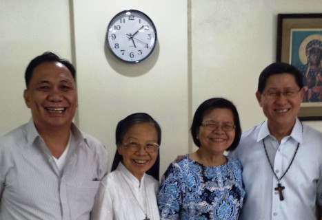 THE HOST SUB-REGION OF SOUTHEAST ASIA April 29, 2015. The Coordinating Team of the CBF Southeast Asia (CBF-SEA) with the New President of the Catholic Biblical Federation Luis Antonio Cardinal Tagle, DD