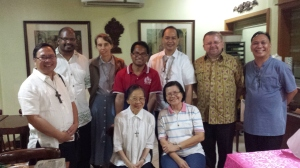 The CBF Asia Oceania with Bishop David during their recent meeting with the General Secretary preparing for the 9th PA.